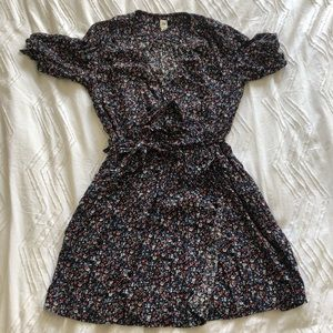 Gap Floral Shortsleeved Mini Dress